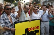 Periodistas de ABC Color manifestando en Asuncion