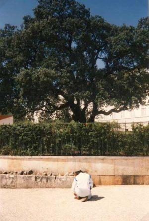 2 de Setiembre 1989 Giorgio frente a la encina de Fátima.