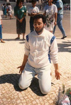 2 de Setiembre 1989 Giorgio en éxtasis en la Plaza de Fátima.