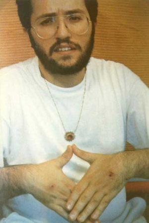 2 de Setiembre 1989 Giorgio con los estigmas en el dorso de las manos.
