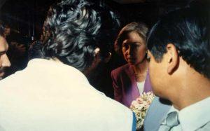Paraguay 20 de Octubre 1990 Giorgio encuentra a la Reina Sofía de España.