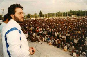 Zaire - Kinshasa 28 de Marzo 1991 Giorgio Bongiovanni durante una conferencia.