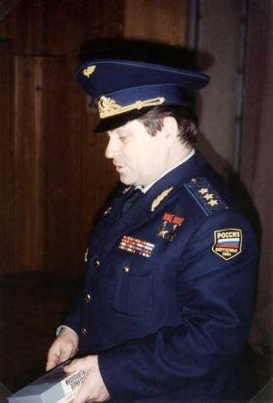 """Rusia - Moscú """"Centro de Control de Vuelos Espaciales"""" el General Kovalënok."""