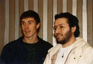 Giorgio Bongiovanni y el Cosmonauta Serghei Krikaliov.