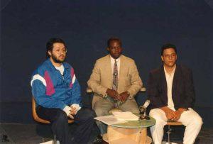 Zaire 25 de Diciembre 1992 Vigilia de Navidad Giorgio en la TV del Zaire en directo por casi una hora habla a 50.000.000 de televidentes.