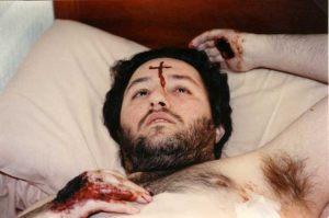 Uruguay - Salto, La Aurora 26 de Julio 1993 Giorgio recibe el estigma en la frente en forma de Cruz.