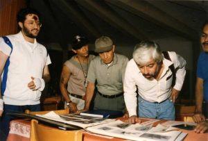 Sicilia - Nicolosi 11 de Setiembre 1993 Giorgio Bongiovanni y Eugenio Siragusa con el periodista Mexicano Jaime Maussan.