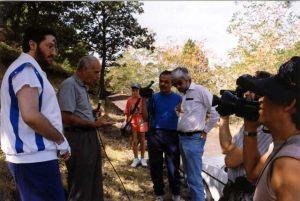 Sicilia - Nicolosi Setiembre 1993 El equipo de Jaime Maussan entrevista a Eugenio Siragusa.