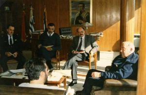 Uruguay - Montevideo Marzo 1996 Giorgio se encuentra con Militares.