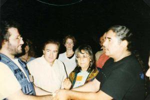 Estados Unidos - Dakota del Sur 14 de Junio 1996 Giorgio se reúne con los Indios americanos Lakota Dakota.