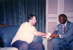 Africa 28 de Setiembre Giorgio con el líder de la oposición al Parlamento Bernard Kolelas Alcalde de Brazzaville