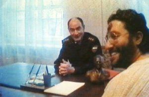 Rusia - Tver 5 de Febrero 1997 Giorgio durante el coloquio con el Generale G. Rescetnikov.