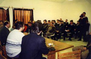 Viaje a Sudamérica 29 de Junio 1997 Giorgio entrevistó al Comandante General del Ejército de Tierra del Uruguay, Raúl Mermot.