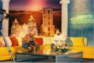 """Viaje a Sudamérica 29 de Junio 1997 Giorgio entrevistado en el programa """"Lagarto Show"""""""